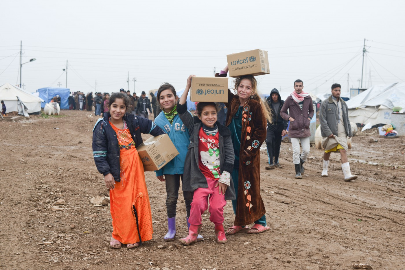 Samer Muscati, </span><span><em>Iraqi Girls Exuberant After Escaping ISIS</em>, </span><span>2015