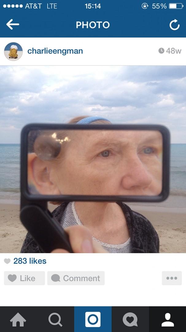 Charlie Engman, </span><span><em>Mom on Instagram</em>, </span><span>2014. Courtesy of the artist.