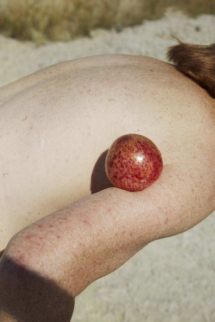 Charlie Engman, Mom with Plum, 2014. Courtesy of the artist.