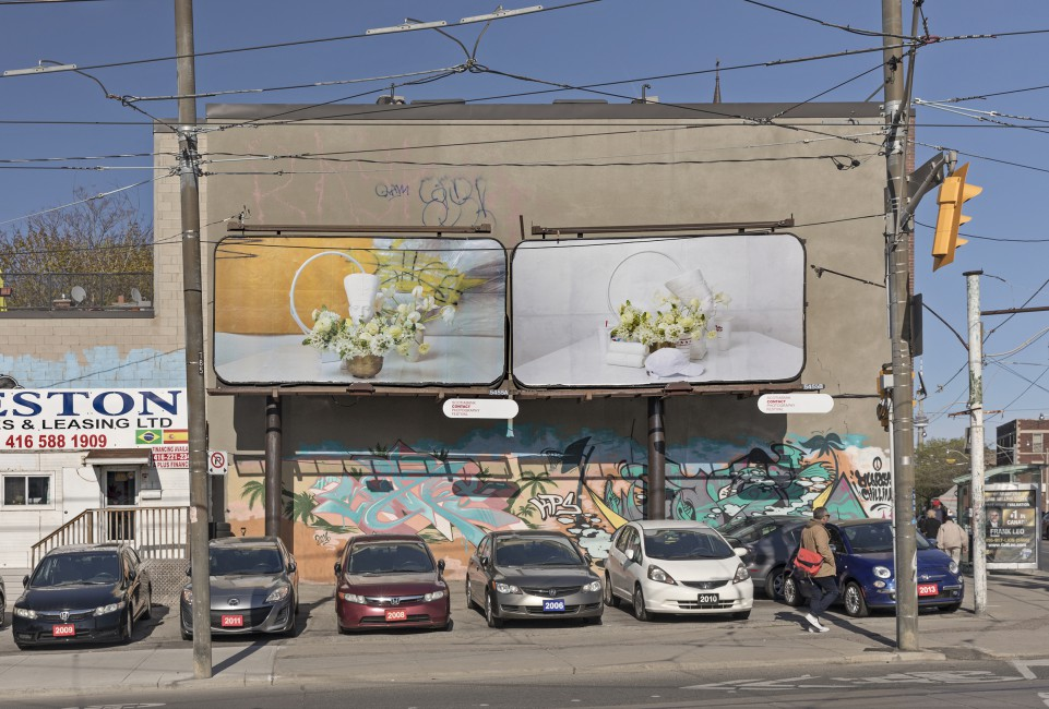 Awol Erizku, </span><span><em>Say Less</em>, </span><span>2018. Billboard installation on Lansdowne Avenue at Dundas Street W and College Street, Toronto. Photo by Toni Hafkenscheid.
