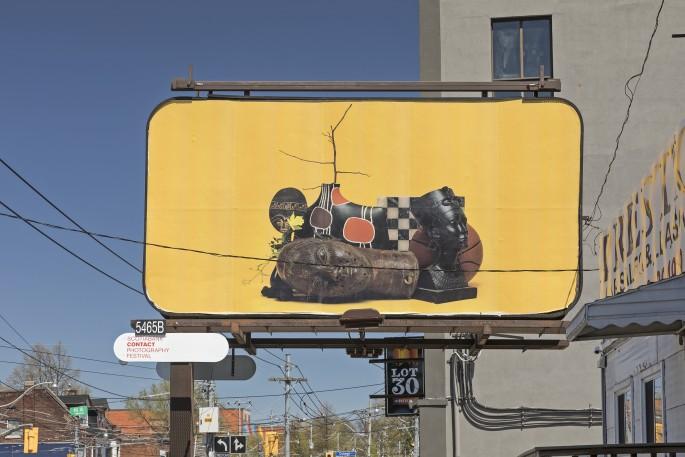 Awol Erizku, </span><span><em>Say Less</em>, </span><span>2018. Billboard installation on Lansdowne Avenue at Dundas Street W and College Street, Toronto. Photo by Toni Hafkenscheid.