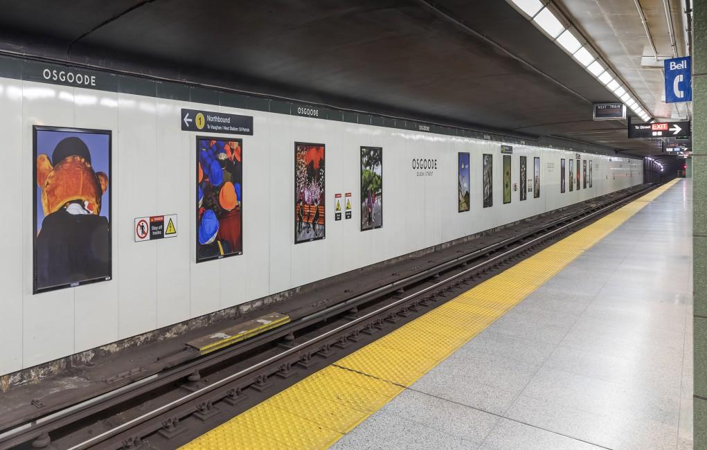 Wang Yishu, </span><span><em>Caught In-Between</em>, </span><span>2018. Installation at Osgoode Station, Toronto. Photo by Toni Hafkensheid