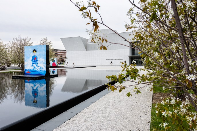 Aida Muluneh, </span><span><em>Reflections of Hope</em>, </span><span>Installation view at the Aga Khan Museum. 2018.