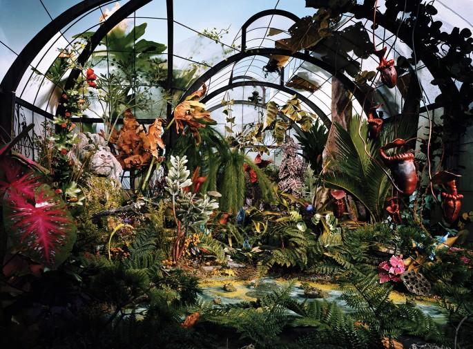 "Lori Nix and Kathleen Gerber, </span><span><em>Botanic Gardens</em>, </span><span>2008. Chromogenic Print, 48 x 65"". Courtesy of Bau-Xi Photo."