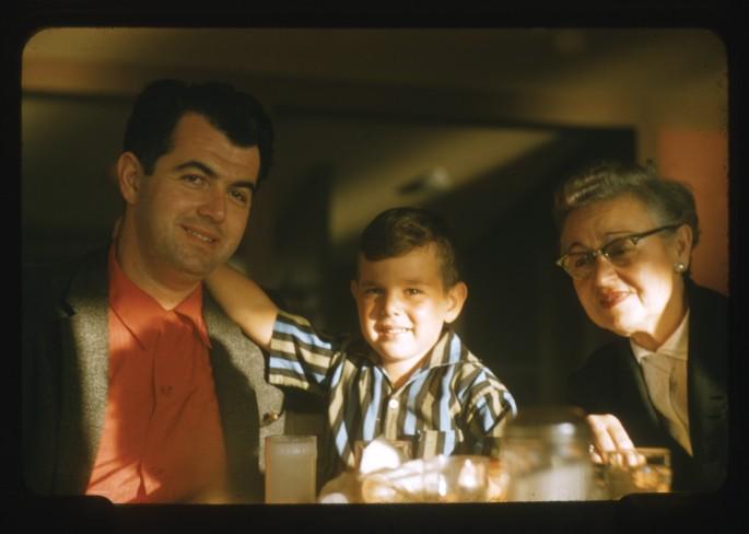 "John E. Ackerman, </span><span><em>Harold and Gary with Mrs. Tattlebaum</em>, </span><span>1957. Archival Pigment Print, 5 x 7"". © Ontario Jewish Archives, Blan- kenstein Family Heritage Centre (UJA Federation), accession 2013-10-3"