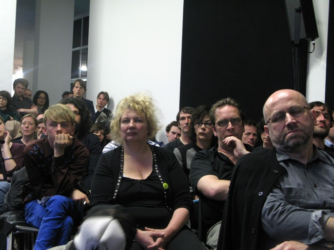 Rainer Ganahl, </span><span><em>Seminar/Lecture, Jeff Wall, Willem de Rooij, Total Visibility, The artists, Witte de With, Rotterdam</em>, </span><span>2009. 20 × 24&quot;.