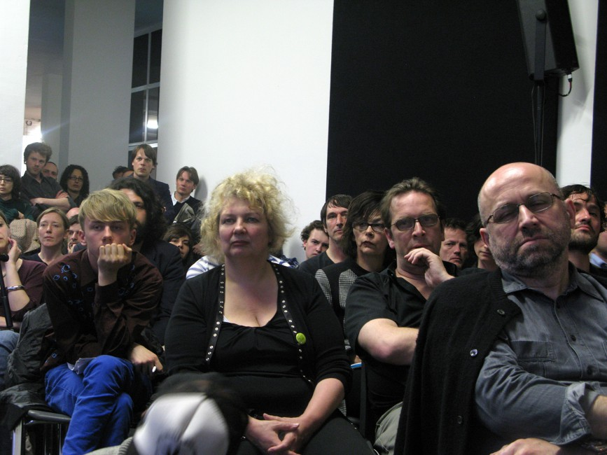 Rainer Ganahl, </span><span><em>Seminar/Lecture, Jeff Wall, Willem de Rooij, Total Visibility, The artists, Witte de With, Rotterdam</em>, </span><span>2009. 20 × 24&quot;
