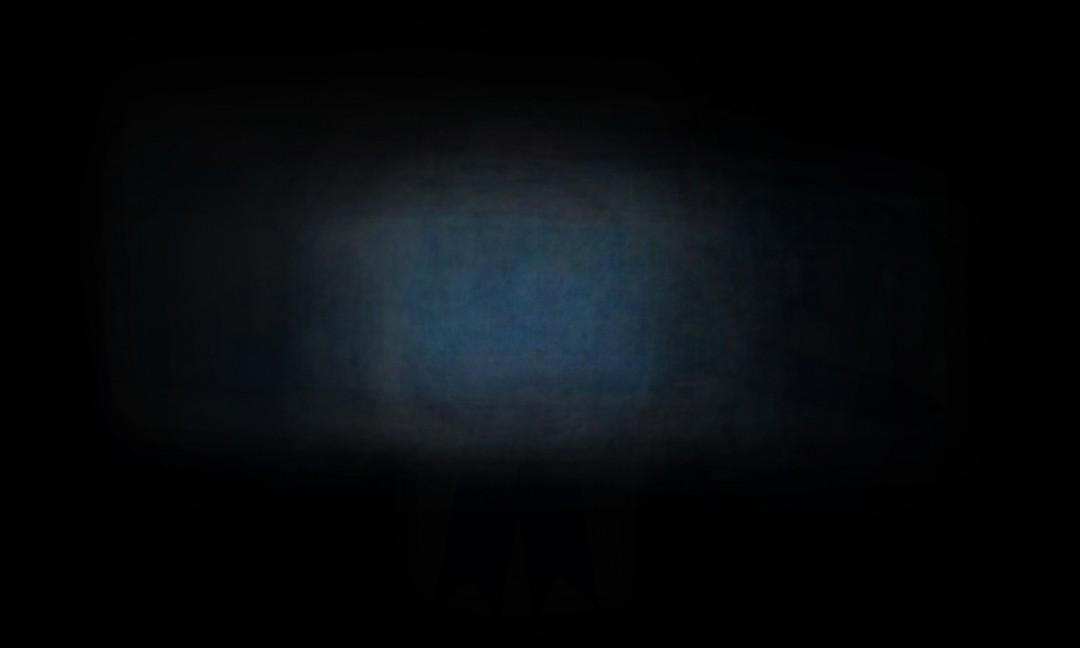 "Rachel Burns, Blue Astral Object(s), 2018. Archival pigment print, 44 x 66""."