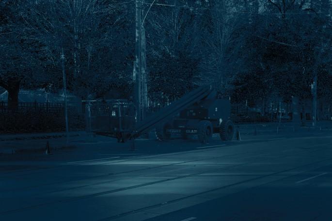Sam Cotter, </span><span><em>Crane</em>, </span><span>2017. Cyanotype, 15 × 22&quot;.