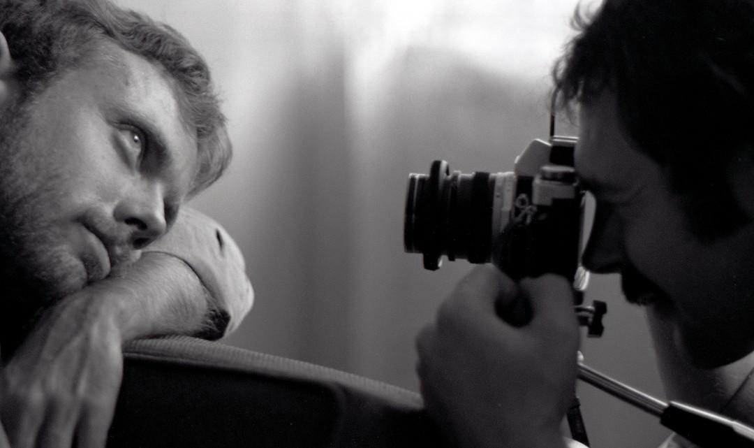 "Sunil Gupta, </span><span><em>Gerry and Wayne with a camera</em>, </span><span>circa 1974. Archival pigment print, 23 x 15"". © Sunil Gupta, courtesy of Stephen Bulger Gallery."