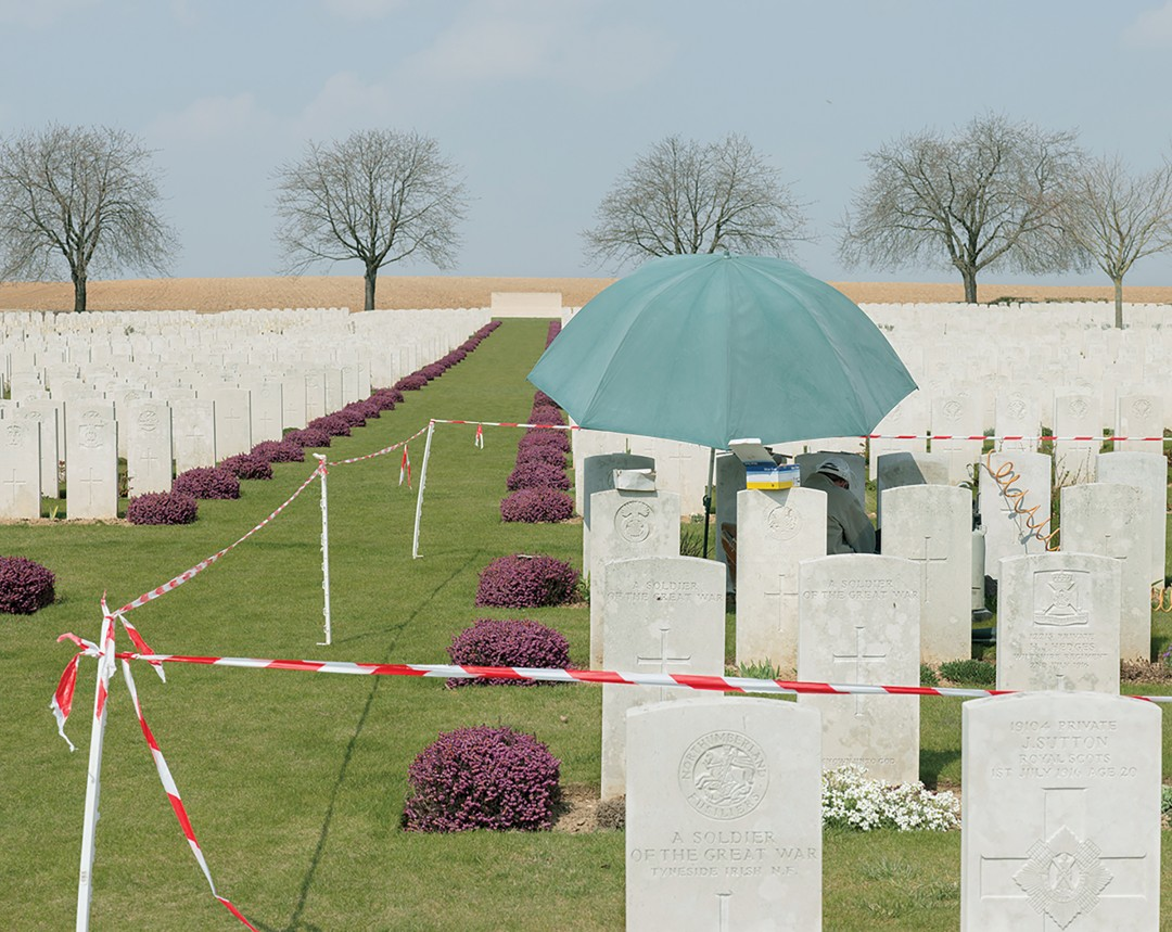 Daniel Alexander, Headstone re-engraving: Ovillers Military Cemetery, France, 2013. Courtesy of the artist
