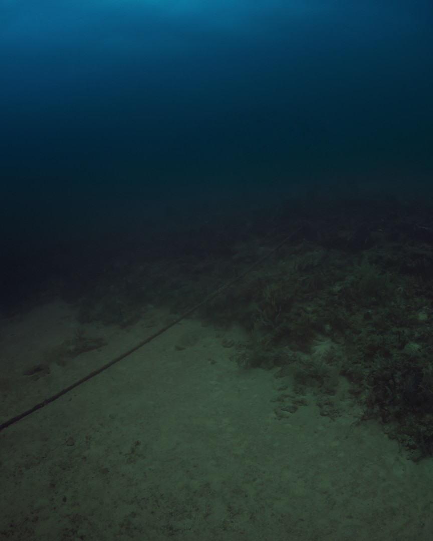 Trevor Paglen, Columbia-Florida Subsea Fiber (CFX-1) NSA/GCHQ – Tapped Undersea Cable, 2013. Digital c-print. Courtesy the artist and Metro Pictures (New York)