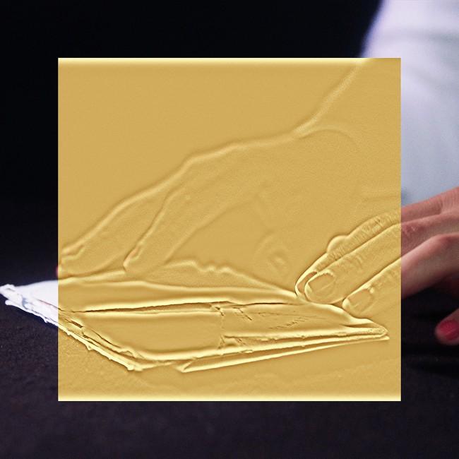 Esther Shalev-Gerz, </span><span><em>The Gold Room</em>, </span><span>(detail), 2016. Natural pigments on archival paper. Courtesy of the artist.