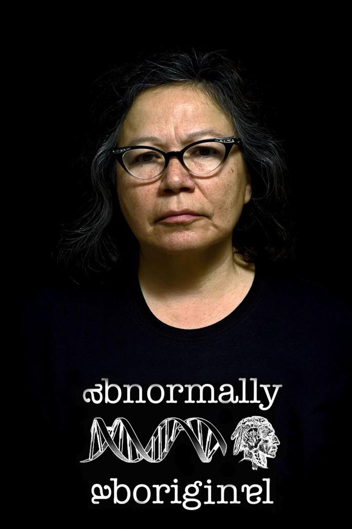 Shelley Niro , </span><span><em>Abnormally Aboriginal</em>, </span><span>2014. Print on canvas. Courtesy of the artist.