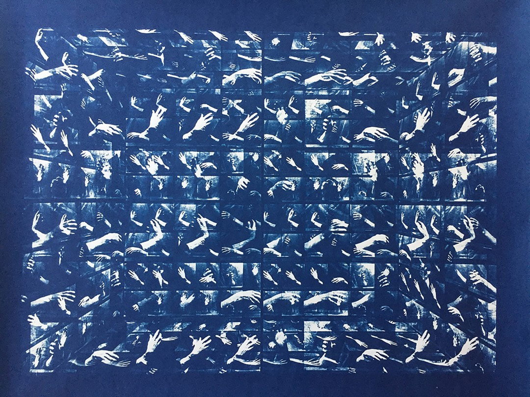 Bill Jones, After Eadweard Muybridge, 2017. Cyanotype. Courtesy of the artist.