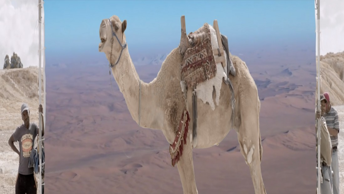 Sophia Al Maria, </span><span><em>The Future Was Desert, Part II</em>, </span><span>2016. Video still. Courtesy the artist and The Third Line, Dubai.