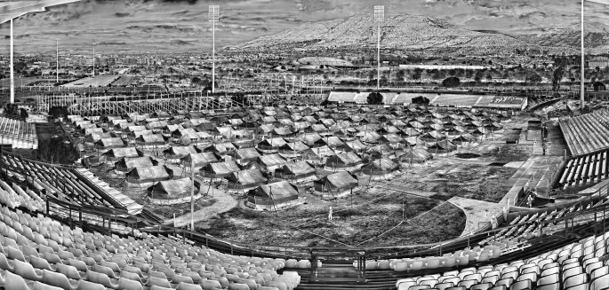 Richard Mosse, </span><span><em>Hellinikon Olympic Arena</em>, </span><span>2016. ©Richard Mosse. Private Collection. Courtesy Jack Shainman Gallery, New York.