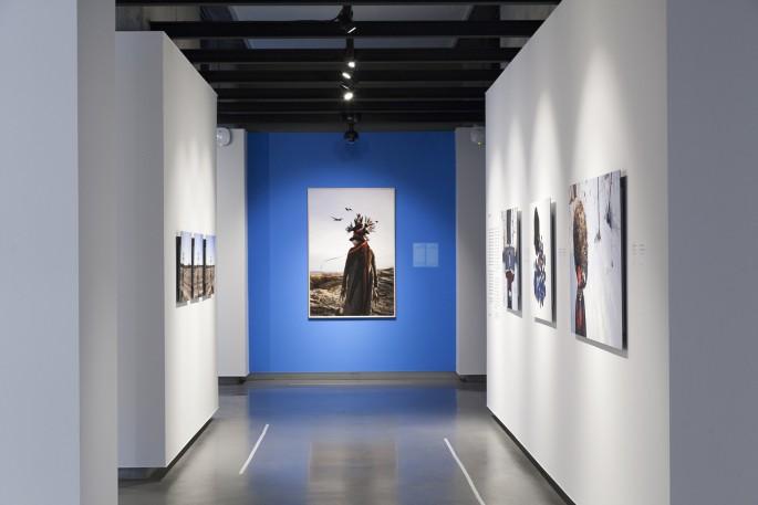 Meryl McMaster, </span><span><em>New Generation Photography Award</em>, </span><span>Exhibition at On Site Gallery, May - June 2018. Photo by Yuula Benivolski