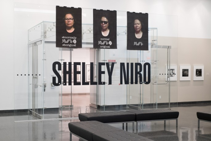 Shelley Niro, </span><span><em>Scotiabank Photography Award</em>, </span><span>Exhibition at Ryerson Image Centre, April - August 2018. Photo by Larissa Issler.