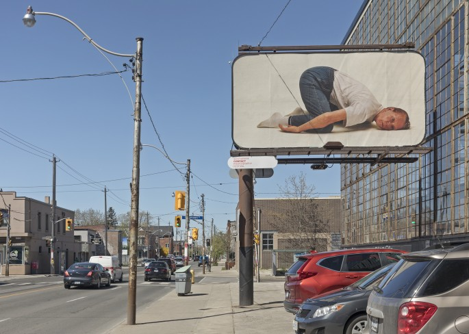 Charlie Engman, </span><span><em>Mom</em>, </span><span>2018. Installation on billboards at Dovercourt Rd and Dupont St, Toronto. Photo by Toni Hafkenscheid.