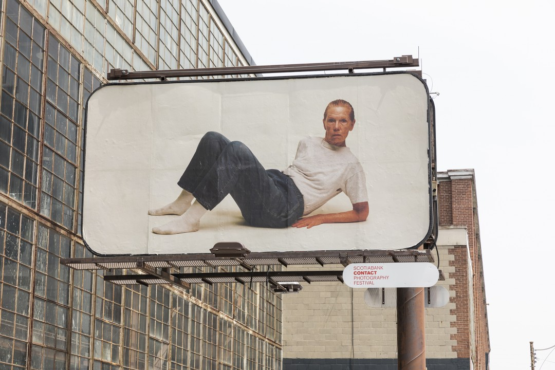 Charlie Engman, Mom, 2018. Installation on billboards at Dovercourt Rd and Dupont St, Toronto. Photo by Toni Hafkenscheid.
