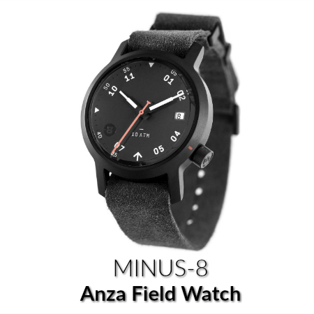 minus-8 anza field watch