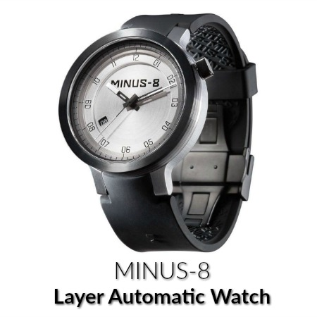 minus-8 white automatic watch
