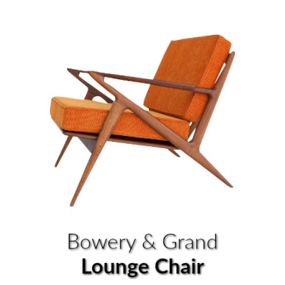 Bowery & Grand Orange Lounge Chair