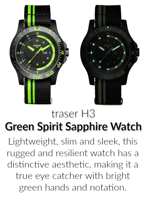 traser green spirit watch