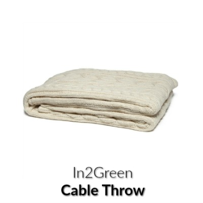 in2green Organic Fisherman Cable Eco Throw