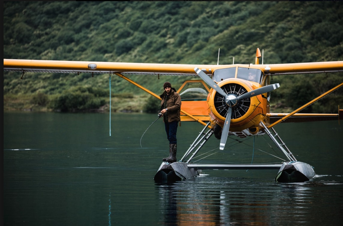 Filson Fishing with Aircraft