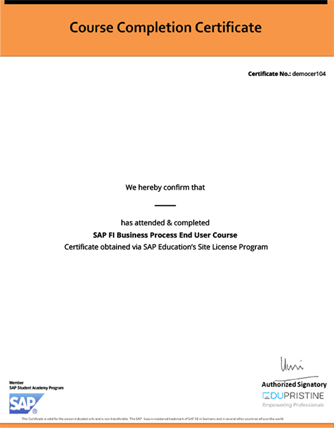 BAT SAP Certificate