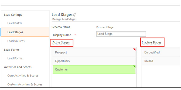 LeadSquared lead stage