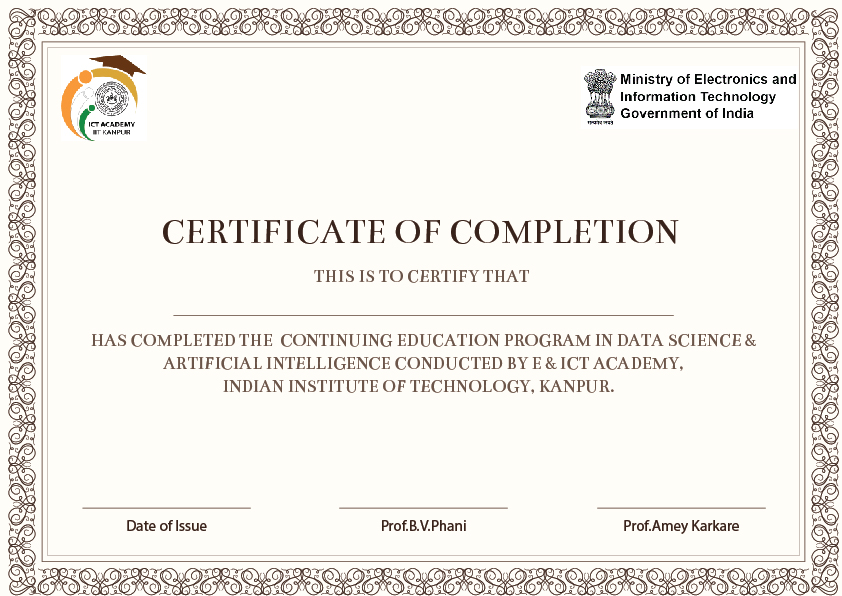 Data Science and Artificial Intelligence Certificate