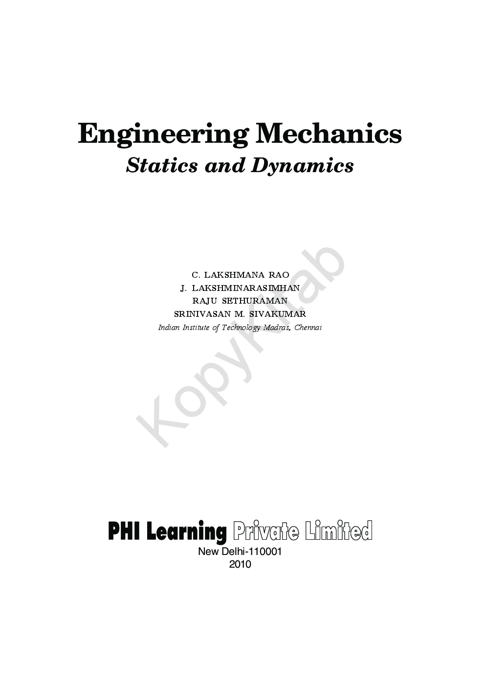 Engineering mechanics statics and dynamics by c lakshmana rao get this ebook snapshot description fandeluxe Image collections
