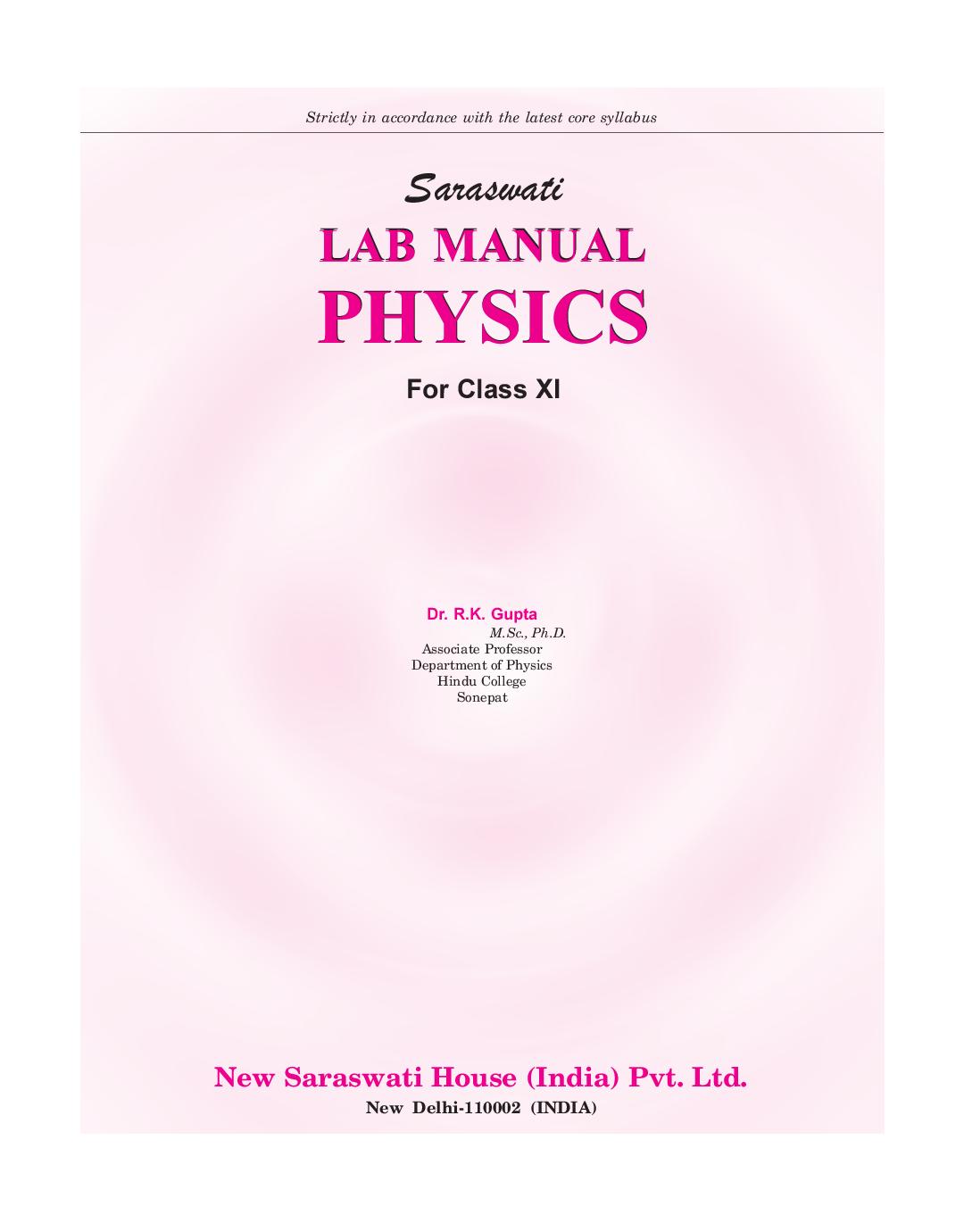 Physics lab manual 11th ebook applied physics edition 11 array download saraswati lab manual physics class xi pdf online rh kopykitab com fandeluxe Images