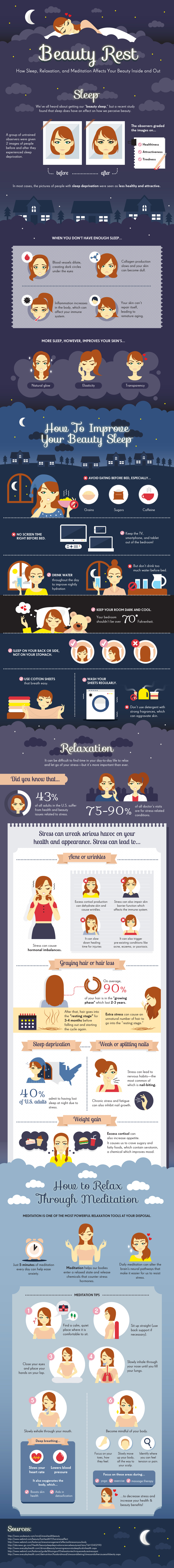 How Sleep, Relaxation, and Meditation Affect Your Beauty Inside and Out