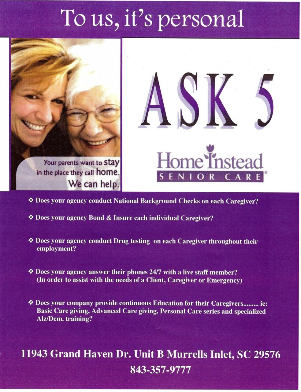 Home Instead Senior Care – Ask 5 001 (2)   Conway Chamber of