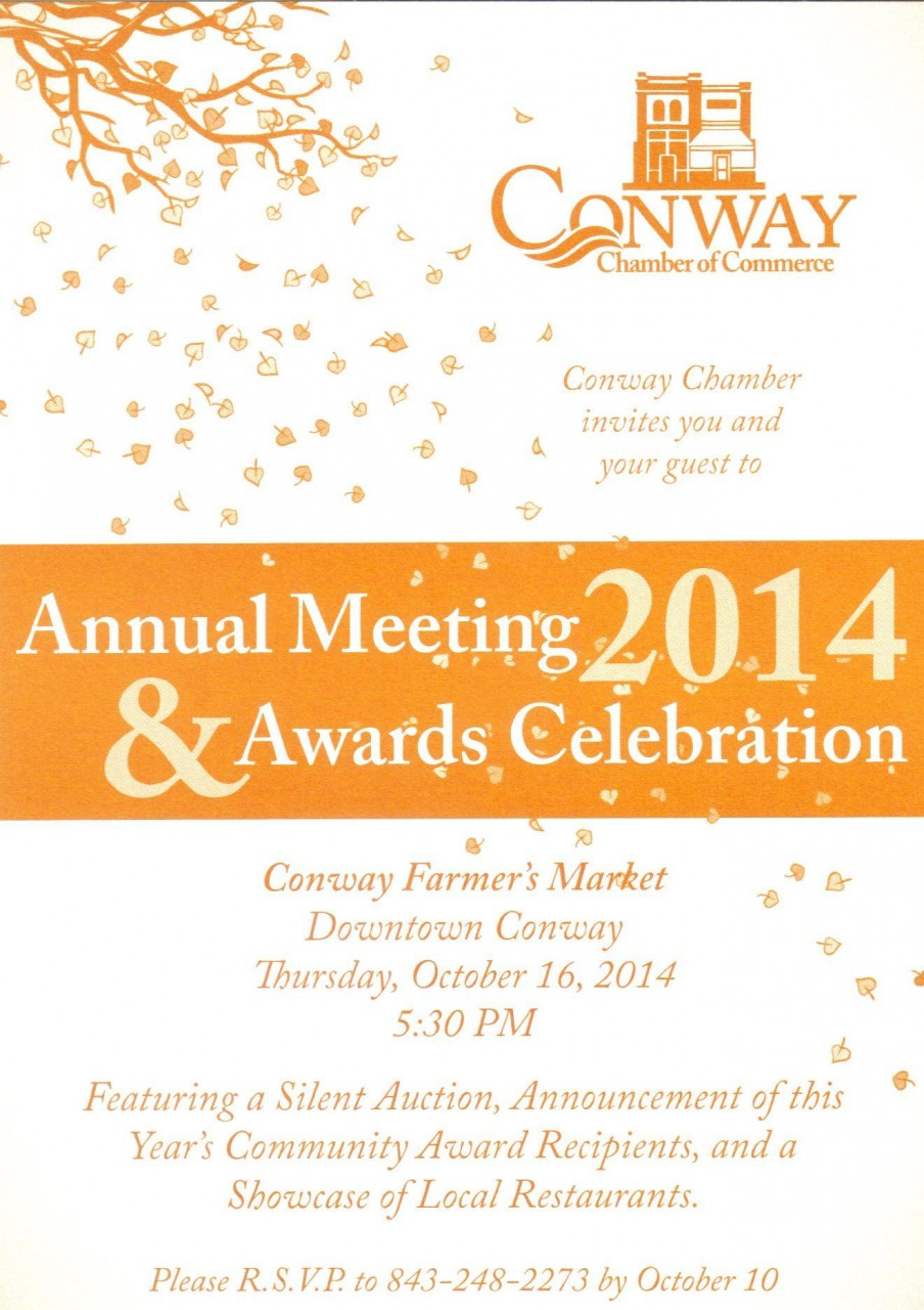 Nelson Auto Group >> Annual Meeting 2014 Invite | Conway Chamber of Commerce