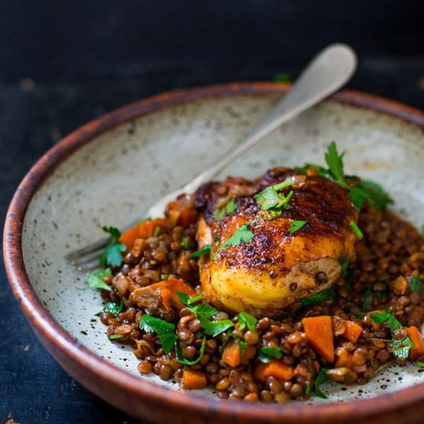 Berbere Chicken with Ethiopian Lentils