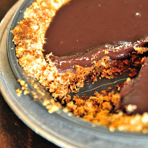 Chocolate Espresso Ganache Pie Recipe