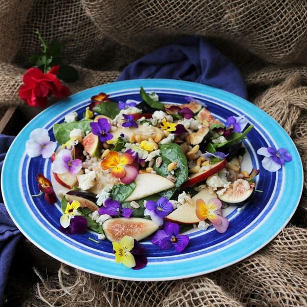 Fig Pear Barley Salad