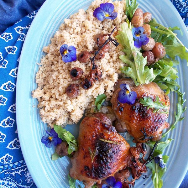 Grape Roasted Chicken Thighs