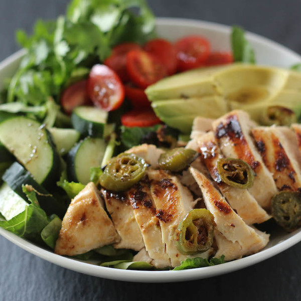 Coconut Lime Jalapeno Marinated Chicken Salad