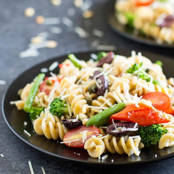 One Pot Mediterranean Vegetable Pasta