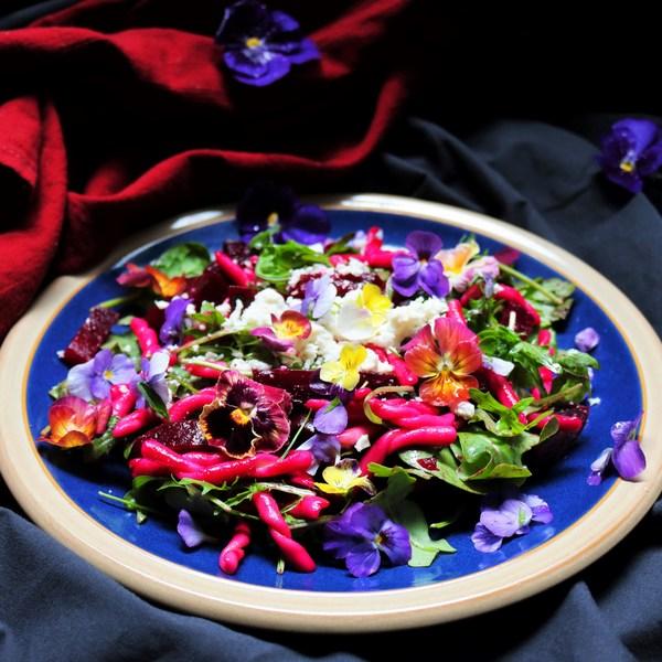 Roasted Beetroot Pasta Salad
