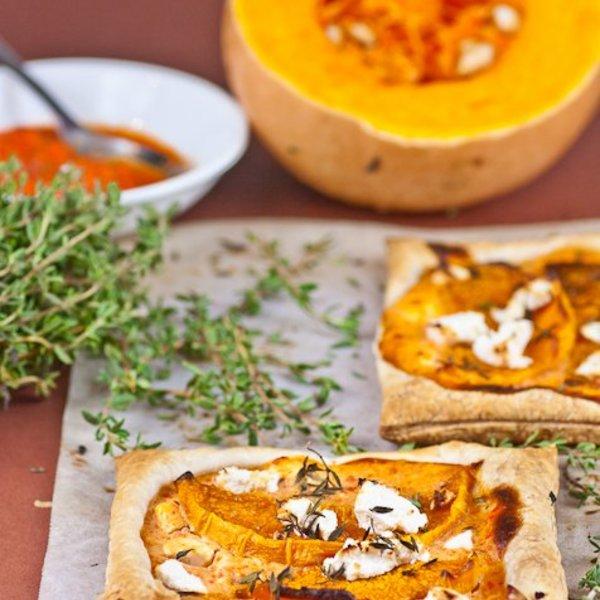 Spiced Pumpkin and Feta Tarts