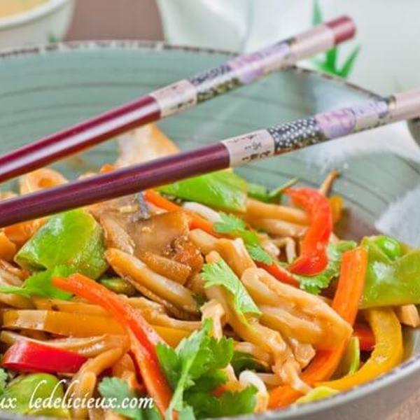 Stir fry vegetables with Udon Noodles