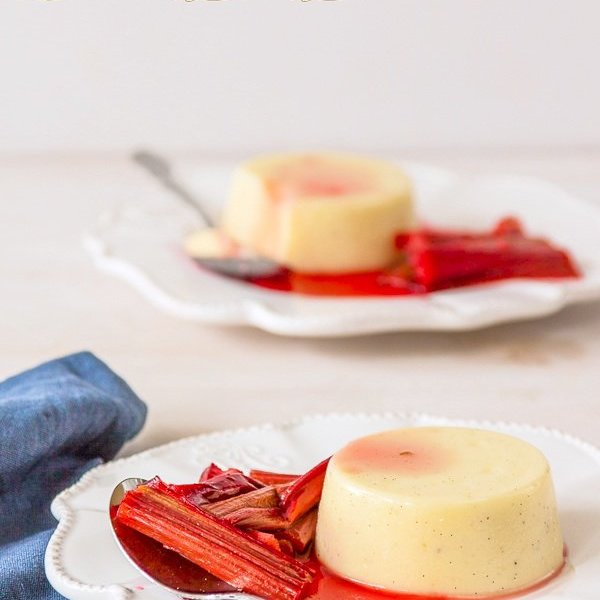 Celebrating 6 years of blogging – Vanilla Panna Cotta (gelatine free) with Elderflower Roasted Rhubarb