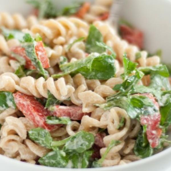 Arugula and Goat Cheese Pasta Salad